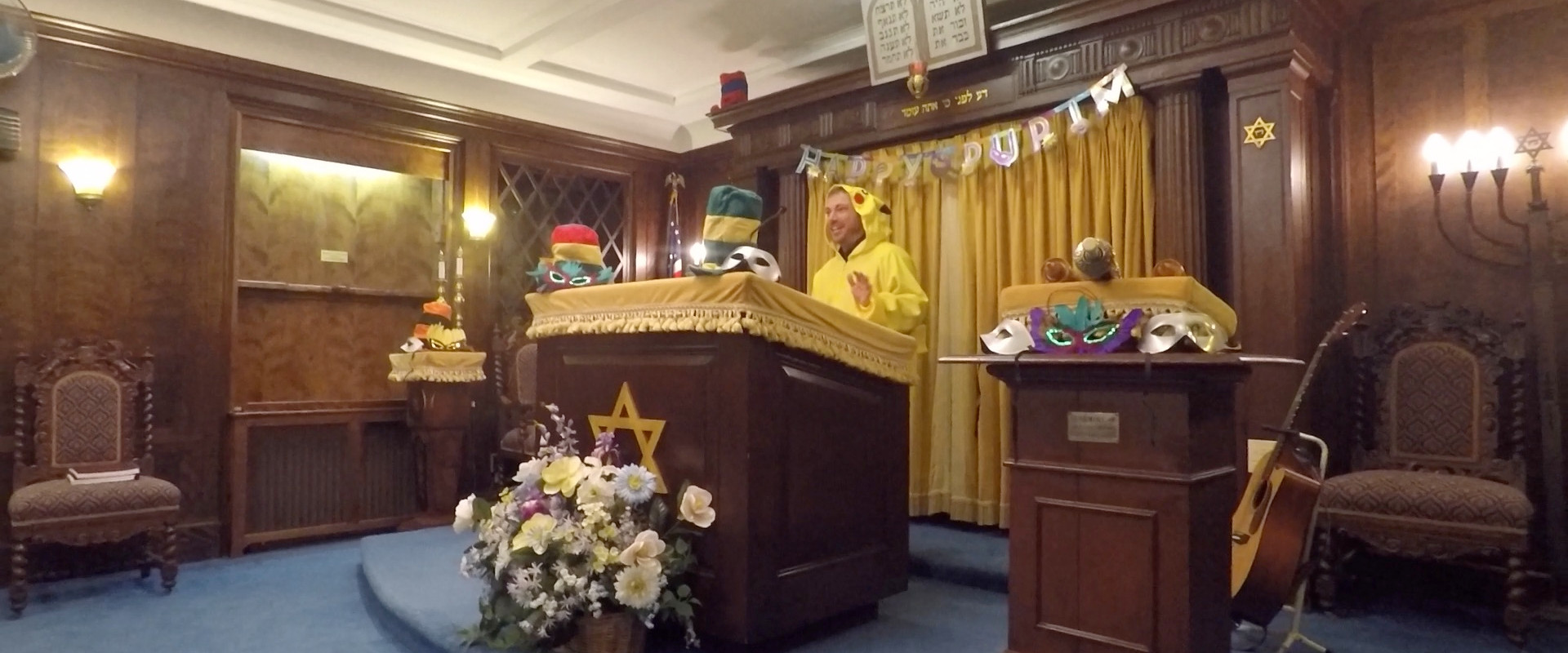 Rabbi Greg as Pikachu for Purim